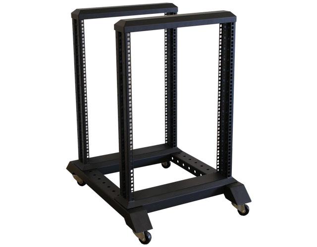 15U 4 Post Open Frame Steel Rack