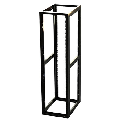 """4-Post Professional Square Rack 19"""" with 45 Units"""