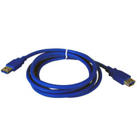 3ft USB 3.0 A Male to A Female Extension Cable - Blue