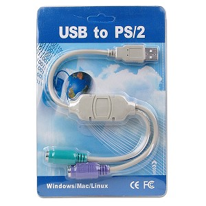 7 inch USB to PS/2 Keyboard and Mouse Adapter Cable