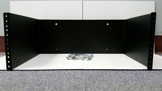 4u 19 inch Wall Bracket Black - Depth 300mm