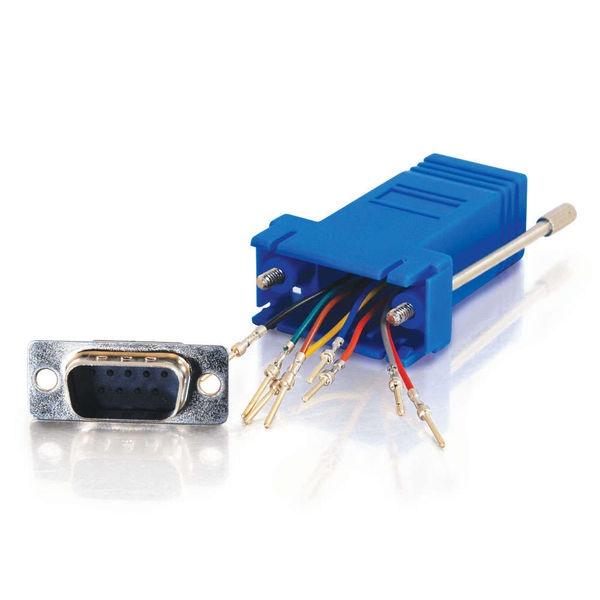 DB9M/RJ-45,Modular Adaptor - Blue