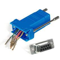 DB9F/RJ-45,Modular Adaptor - Blue
