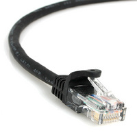 1.5ft 23AWG Molded UTP Cat6 Network Cable - Black