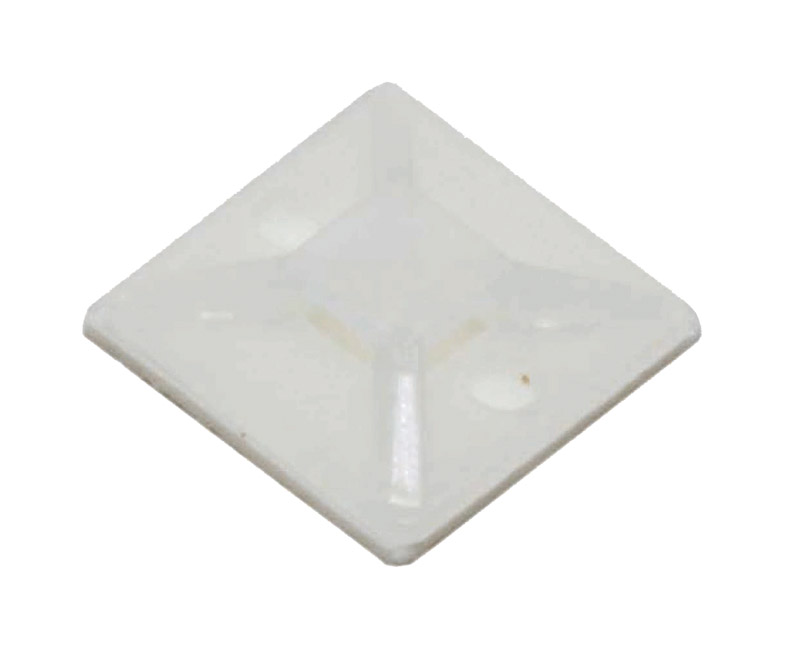 Cable tie mounts 25x25(mm), 100pcs/Pack - white