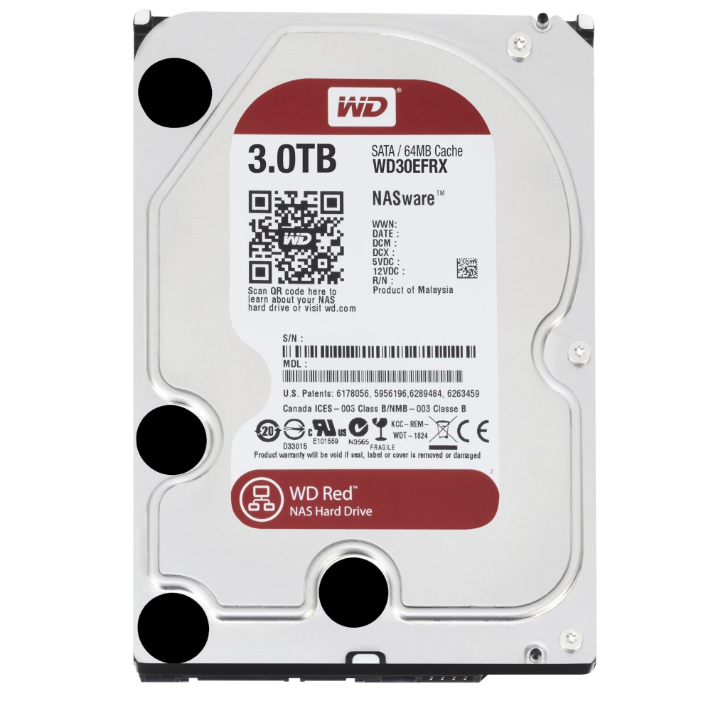 WDC Red WD30EFRX 3TB IntelliPower SATA3/SATA 6.0 GB/s 64MB Hard Drive (3.5 inch)